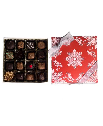 16 Piece Chocolate Assortment in a Snowflake Box_AC-0921