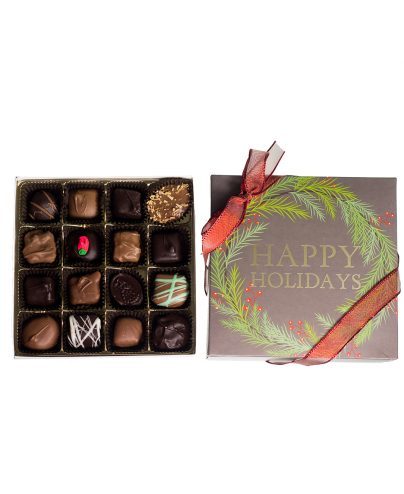 16 piece Chocolate Assortment Holiday Box_AC-0923