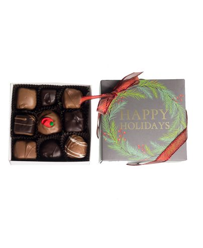 9 piece Chocolate Assortment Holiday box_AC-0924