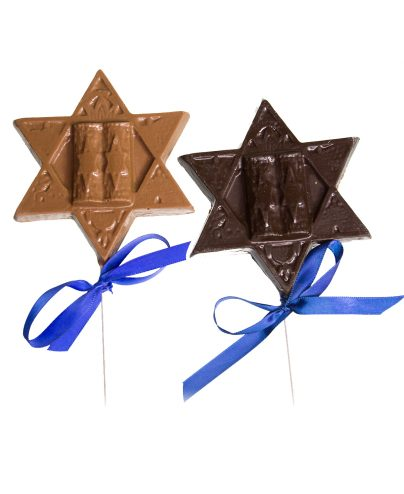 Chanukah Star of David Chocolate Pop_AC-0822