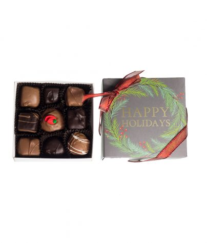 9 piece Chocolate Assortment Holiday box_AC-0924