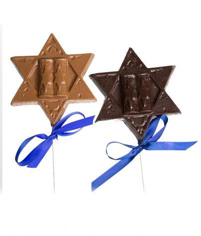 Chanukah Star of David Chocolate Pop_AC-0822