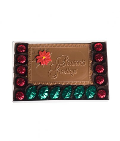 Solid Chocolate Seasons Greetings Plaque_AC-0945