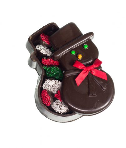 AC-Dark Chocolate Snowman Box-0982-EX